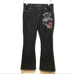 COOGI FLARE JEANS DARK WASH SEXY IS MY LEGACY